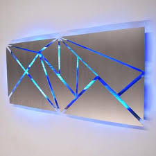 lighted pictures wall decor metal wall sculpture contemporary art by dv8 studio