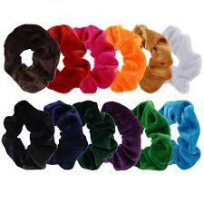 elastic hair bands bingqing brand elastic hair bands set of twelve colourful velvet