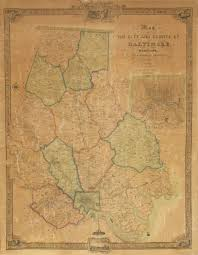 Map Of Baltimore Md The First Printed Map Of Baltimore County Maryland Rare