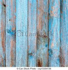 rustic wooden fence purification of blue paint bright stock