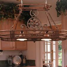 sweet kitchen pot rack with lights features rectangle shape metal