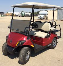 2018 yamaha electric golf cart 4 seats red johnson manufacturing