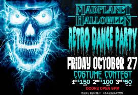 halloween retro dance party u0026 costume contest u2014 mad planet