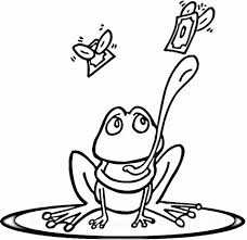 frog lily pad coloring free printable coloring pages