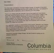 How Does College Acceptance Letter Look Like Kenzi S College Acceptance Letter My Amazing Kenzi