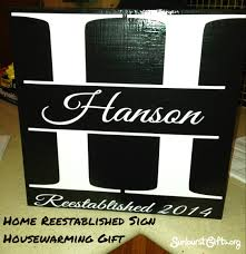 home reestablished sign housewarming gift thoughtful gifts