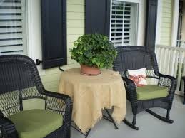 delightful beautiful front porches design with hanging black bench