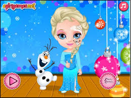 baby barbie frozen face painting baby game video games