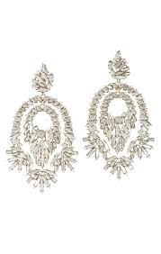 gunmetal chandelier earrings bcbgmaxazria metallic stone statement earrings bcbg com