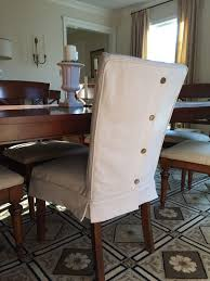 Slip Covers Dining Room Chairs Dropcloth Slipcovers For Leather Parsons Chairs Slipcovers