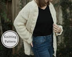 Knitted Chandelier Earrings Pattern Chunky Knit Sweater Etsy