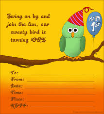 Birthday Party Invitation Cards Free Printable 20 Cute 1st Birthday Invitations Free Printable And Original