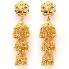 gold jhumka earrings design jhumka earrings designs 2013
