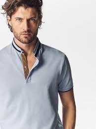 men s spring summer 2017 men s plain polo shirt with contrasting details