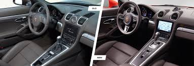 porsche boxster interior porsche 718 boxster old vs new comparison carwow