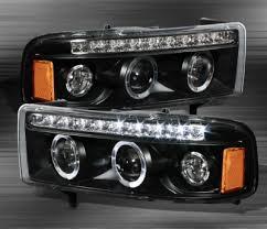 2001 dodge ram headlights dodge ram 2500 1994 2001 black halo projector headlights with led
