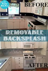 temporary kitchen backsplash kitchen makeover on the cheap use contact paper to update your