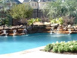 rock waterfalls for pools pools rock waterfalls low profile rock waterfall swimming pool