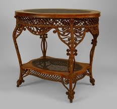 wicker victorian table center table natural furniture to covet