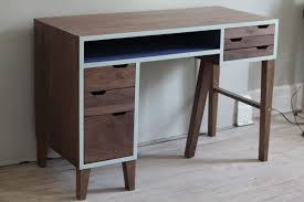 Contemporary Secretary Desk by Modern Walnut Desk Style Thediapercake Home Trend
