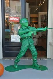 plastic army boy halloween costume
