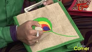 creative corner how to paint beautiful designs on jute bags