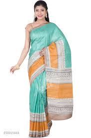 Buy Green Plain Cotton Silk Buy Green Sarees Online Nalli Com