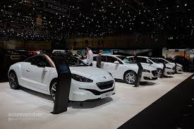 peugeot sports car 2015 2015 peugeot 208 thinks blue in geneva with 79 gram eco model