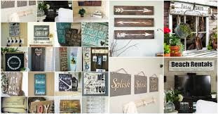 wooden signs decor 50 wood signs that will add rustic charm to your home decor diy