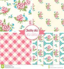 seamless shabby chic rose pattern royalty free stock images