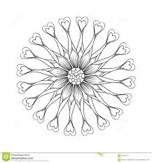 coloring page with osteospermum flowers stock illustration image
