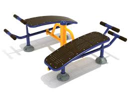 double sit up bench outdoor fitness by playground equipment dot com