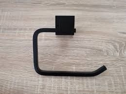 L Shaped Bathroom Luxe Square Matte Black L Shaped Toilet Paper Roll Holder