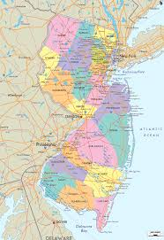 Virginia Map With Cities New Jersey Map