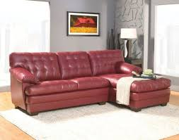 White Leather Tufted Sofa by White Frieze Rug Behind Red Color Leather Tufted Sofa Also Red
