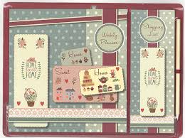 home sweet home vintage design magnetic meal weekly planner and