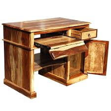 Small Solid Wood Desk Small Wood Computer Desk Solid Wood Computer Desk For Small Space