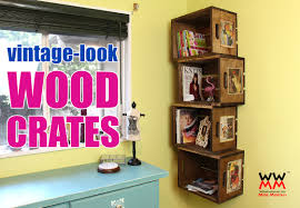 milk crate shelves how to make wood crates woodworking for mere mortals
