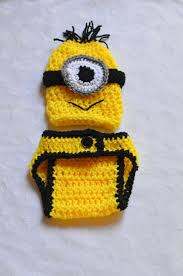 Etsy Baby Boy Halloween Costumes Despicable Minion Crochet Newborn Halloween Costumes