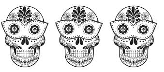 day of the dead skulls coloring pages interesting day of the dead