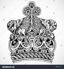 vector crown ornament stock vector 42265585