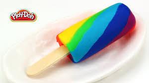 play doh rainbow popsicle ice cream bar easy youtube