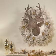 winter 32 jeweled reindeer trophy wall décor 8396021 hsn