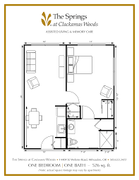 senior apartment floor plans the springs at clackamas woods