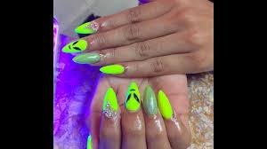 neon nails bright neon summer nail art youtube