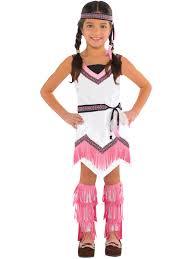 pink ladies jacket spirit halloween girls red indian costume native fancy dress book week costume