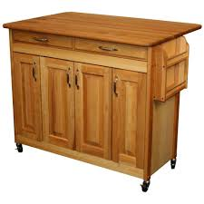 catskill craftsmen 44 3 8 in butcher block kitchen island with