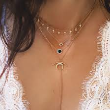boho layered necklace images Jewels tumblr summer hipster boho layered jewels short jpg