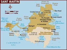 map of st martin map of st martin