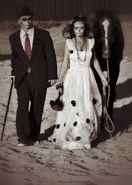 day of the dead bride and groom costume costume and make up by